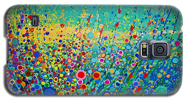 Colorful Flowerscape Galaxy S5 Case