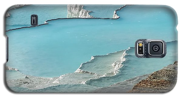 Cotton Castle Surrounded By Azure Pools Galaxy S5 Case by Alexandra Jordankova