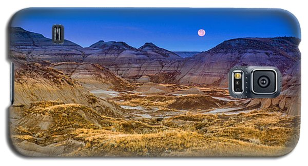 Galaxy S5 Case featuring the photograph  Dinosaur Harvest Moon by Rob Tullis