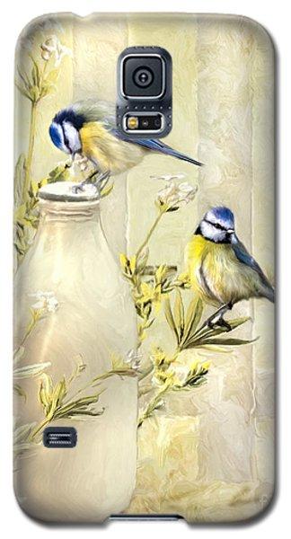 English Blue Tits Galaxy S5 Case