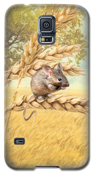 Galaxy S5 Case featuring the digital art  Field Mouse by Trudi Simmonds