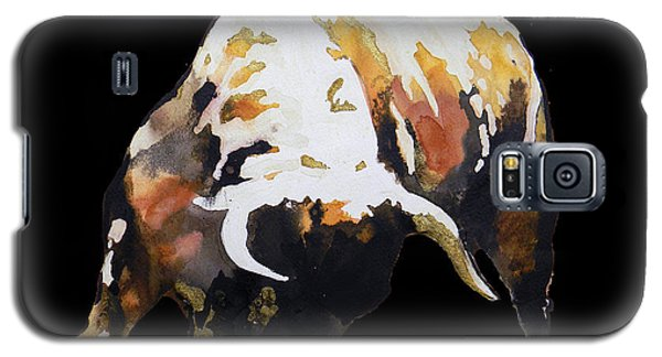 Fight Bull In Black Galaxy S5 Case by J- J- Espinoza