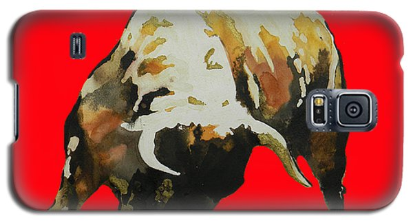 Fight Bull In Red Galaxy S5 Case
