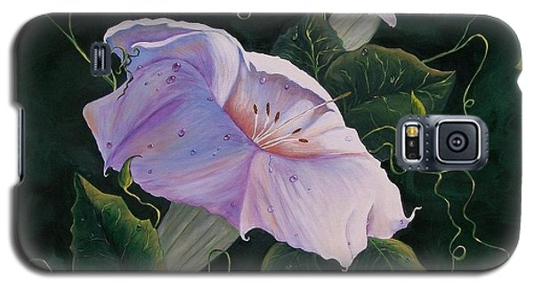 First  Trumpet Flower  Of Summer Galaxy S5 Case by Sharon Duguay