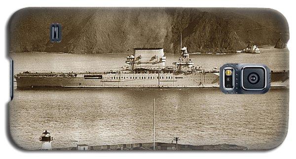 U.s.s. Lexington Cv-2 Fort Point Golden Gate San Francisco Bay California 1928 Galaxy S5 Case by California Views Mr Pat Hathaway Archives