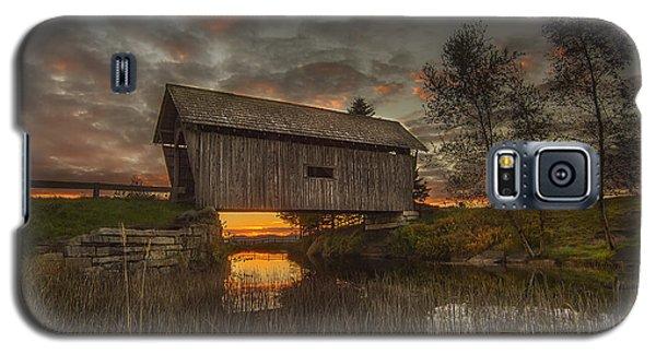 Foster Covered Bridge Sunset Galaxy S5 Case