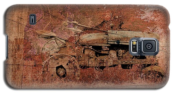 Galaxy S5 Case featuring the digital art  Grandpa's Old Tractor by Ericamaxine Price