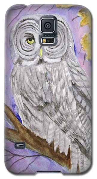 Galaxy S5 Case featuring the painting  Grey Owl by Belinda Lawson