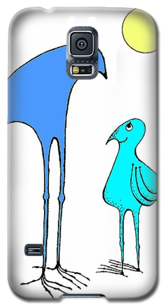 Galaxy S5 Case featuring the drawing  Happy Father  And  Son by Hartmut Jager