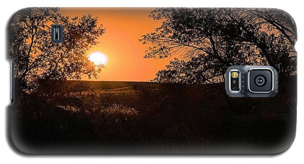 Hayfield At Night Galaxy S5 Case