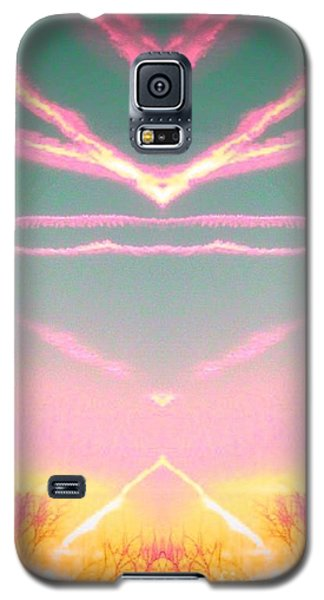 Heavenly  Contrails  Galaxy S5 Case by Karen Newell