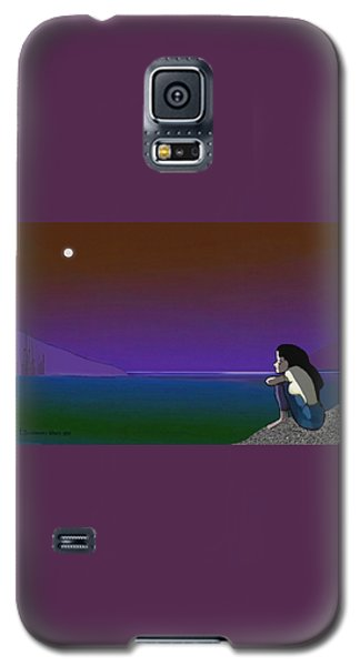 075 - Sitting At The Edge Of The Bay Galaxy S5 Case by Irmgard Schoendorf Welch