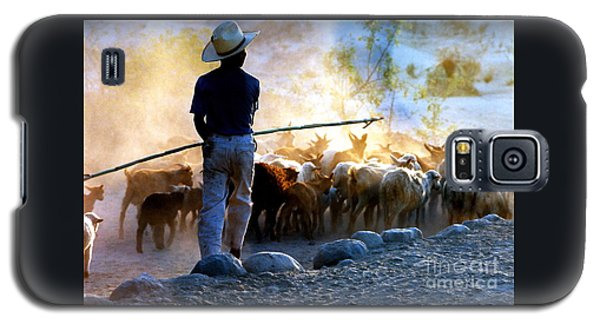 Herder Going Home In Mexico Galaxy S5 Case by Phyllis Kaltenbach