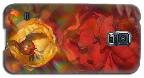 Galaxy S5 Case featuring the photograph  Impressionistic Bouquet Of Red Flowers by Dora Sofia Caputo Photographic Art and Design