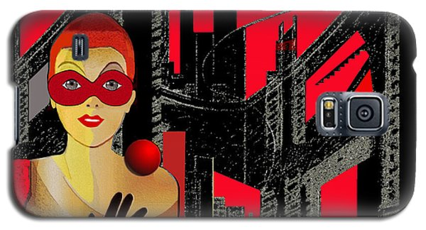 014 - In  Red   City Darkness Galaxy S5 Case by Irmgard Schoendorf Welch