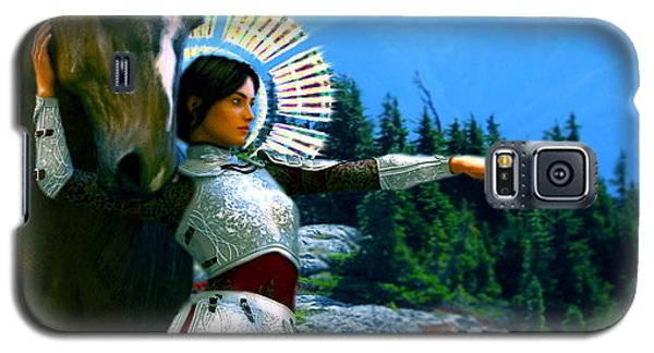 Galaxy S5 Case featuring the painting  Joan Of Arc Visionary by Suzanne Silvir