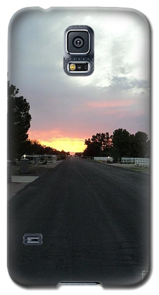 Galaxy S5 Case featuring the photograph  Journey Into The Sunset by Carla Carson