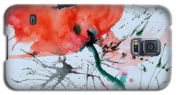 Lonely Poppy Galaxy S5 Case by Ismeta Gruenwald