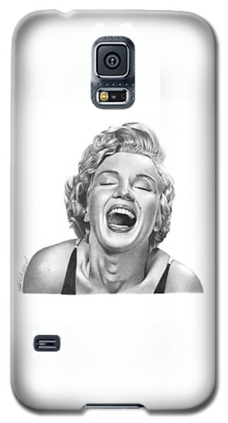 Galaxy S5 Case featuring the drawing  Marilyn Monroe - 034 by Abbey Noelle