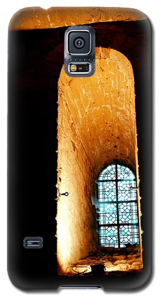Galaxy S5 Case featuring the photograph  Meditation - Deep Window Mont St Michel by Jacqueline M Lewis