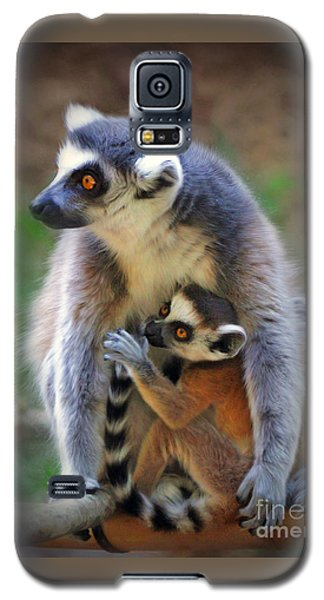 Galaxy S5 Case featuring the photograph    Mother And Baby Monkey by Savannah Gibbs