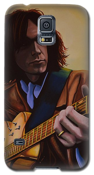 Neil Young Galaxy S5 Case -  Neil Young Painting by Paul Meijering
