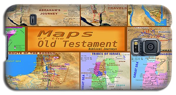 Old Testament Maps Galaxy S5 Case by Bob Pardue