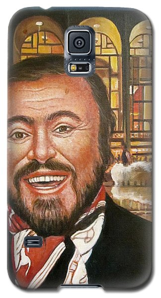 Pavarotti And The Ghost Of Lincoln Center Galaxy S5 Case by Melinda Saminski