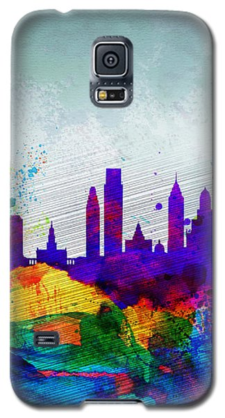 Philadelphia Watercolor Skyline Galaxy S5 Case by Naxart Studio