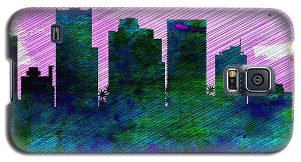 Phoenix City Skyline Galaxy S5 Case by Naxart Studio