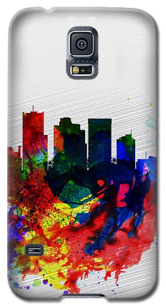 Phoenix Watercolor Skyline 2 Galaxy S5 Case by Naxart Studio