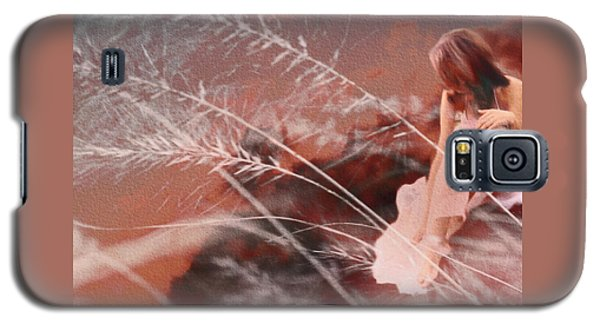 Woman In Pink Field Galaxy S5 Case