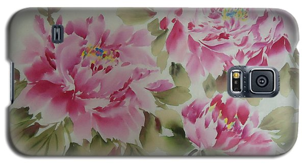 Pink  Peony 014 Galaxy S5 Case by Dongling Sun