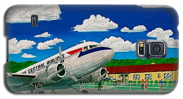 Portsmouth Ohio Airport And Lake Central Airlines Galaxy S5 Case