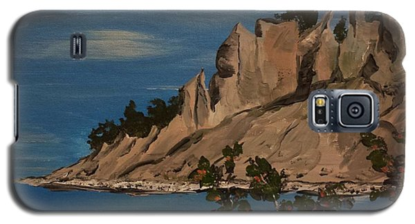 Galaxy S5 Case featuring the painting  Ptg. Chimney Bluffs by Judy Via-Wolff