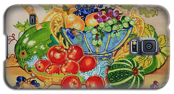 Red Apples And  Grapes Oil Painting Galaxy S5 Case by Johanna Bruwer