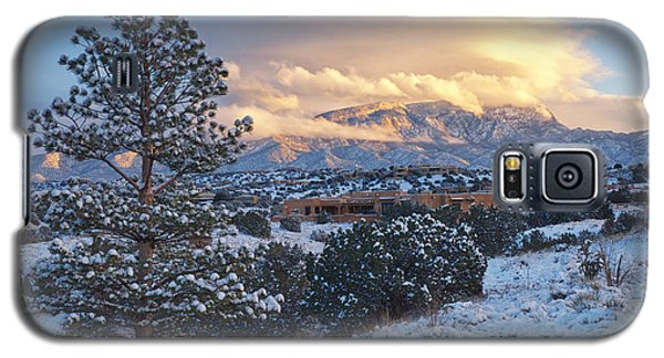 Sandia Mountains With Snow At Sunset Galaxy S5 Case