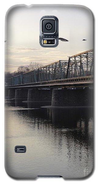Gulls At The Bridge In January Galaxy S5 Case