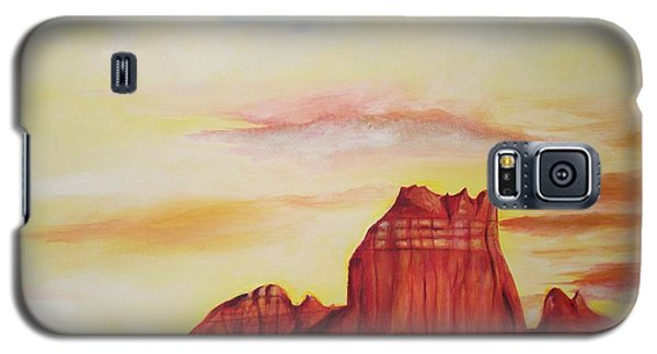 Galaxy S5 Case featuring the painting  Sedona Az by Eric  Schiabor