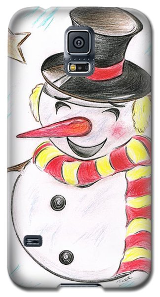 Snowmans  Stardom Galaxy S5 Case by Teresa White
