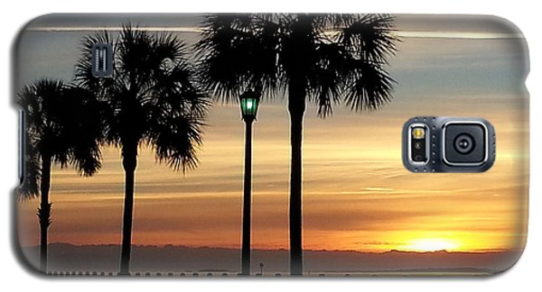 Galaxy S5 Case featuring the photograph  Sunrise Beyond Carolina  Palms by Joetta Beauford