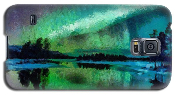 Sunset In Lapland Aurora Borealis Galaxy S5 Case by Georgi Dimitrov