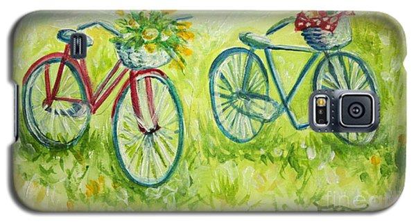 Sweet Bike Ride Picnic Galaxy S5 Case by Elizabeth Robinette Tyndall