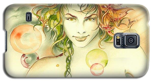 Galaxy S5 Case featuring the painting  The Capricorn by Anna Ewa Miarczynska