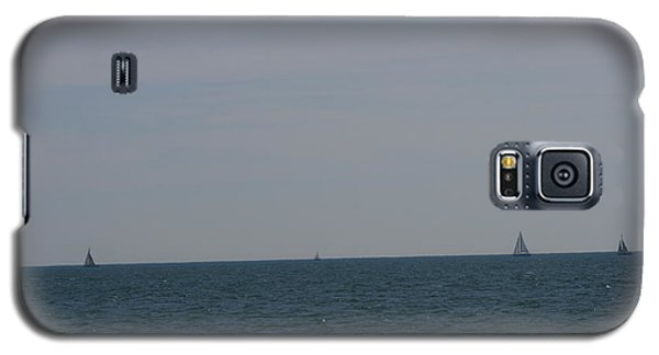 Four Yachts At Sea Galaxy S5 Case by Phoenix De Vries
