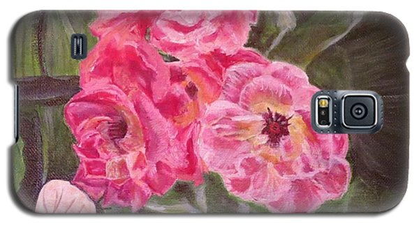 Galaxy S5 Case featuring the painting  Touch Of The Roses Painting by Kimberlee Baxter