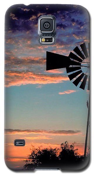 Windmill At Dawn Galaxy S5 Case