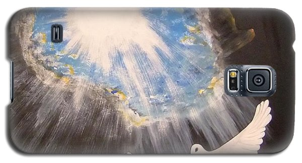 Galaxy S5 Case featuring the painting  Wings Of A Dove by Cindy Micklos