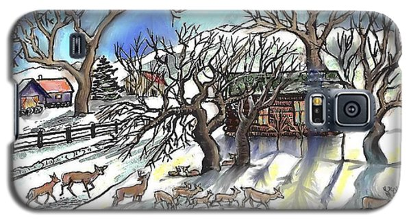 Wyoming Winter Street Scene Galaxy S5 Case