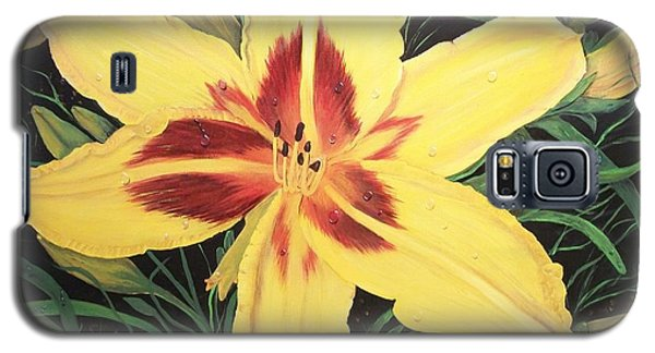 Yellow Lily Galaxy S5 Case by Sharon Duguay